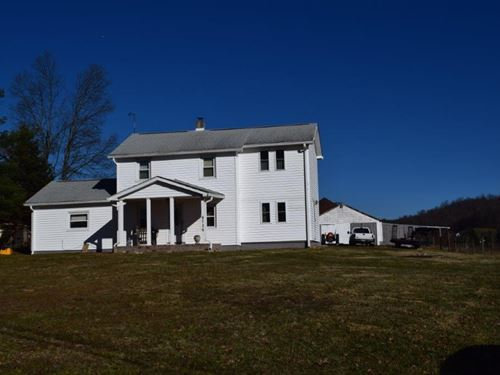 Roanoke VA Farmhouse For Sale : Bent Mountain : Roanoke County : Virginia