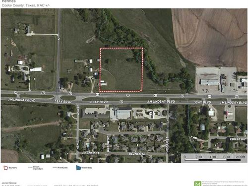 6 Acres Lindsay, TX For Sale : Lindsay : Cooke County : Texas