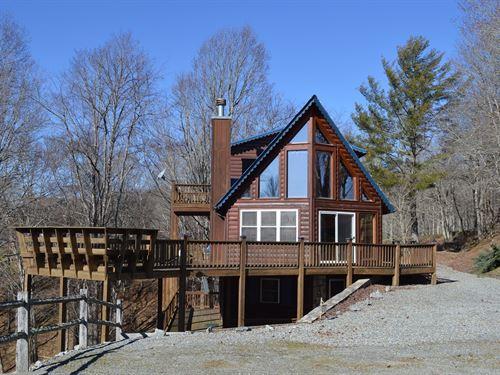 Nice Log Sided Home Piney Creek, NC : Piney Creek : Alleghany County : North Carolina