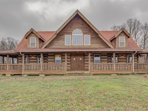 Beautiful Log Home & 5 Acre Lot : Portland : Robertson County : Tennessee