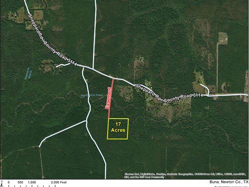 17 Acres Off Cr 3114 1/2 Mineral : Deweyville : Newton County : Texas