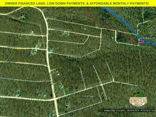 Totally Unrestricted Lot With Creek : Williford : Sharp County : Arkansas