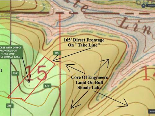 3 Acres At Bull Shoals Lake : Branson : Taney County : Missouri