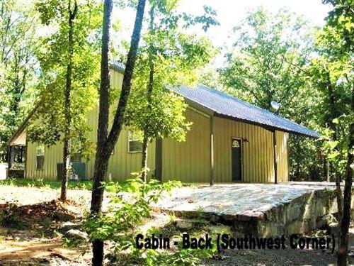 Country Home On Wooded Acreage : Moyers : Pushmataha County : Oklahoma