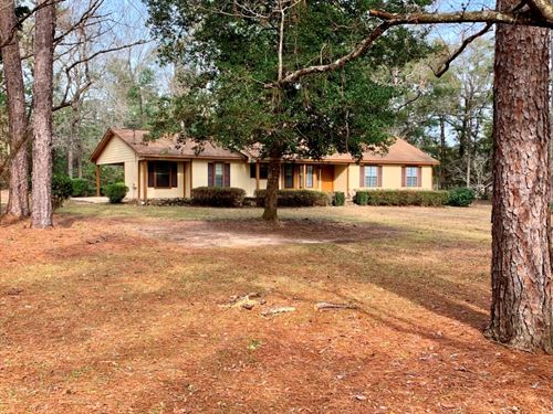 Home 5 Acres & Mh Hook-Ups Black : Black : Geneva County : Alabama