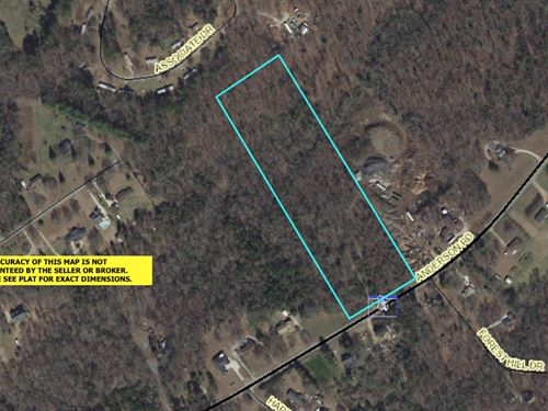 Wooded, Close To I85 : Easley : Anderson County : South Carolina