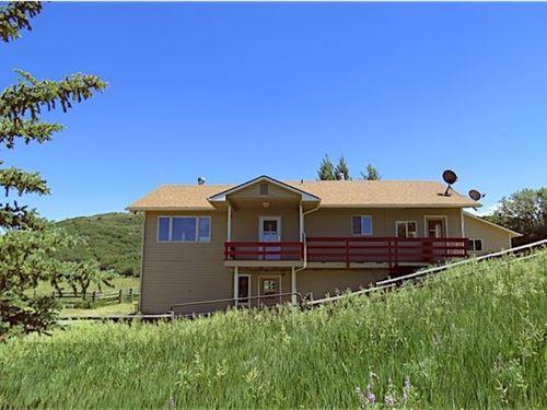 Home on Acreage In The Mountains : Collbran : Mesa County : Colorado