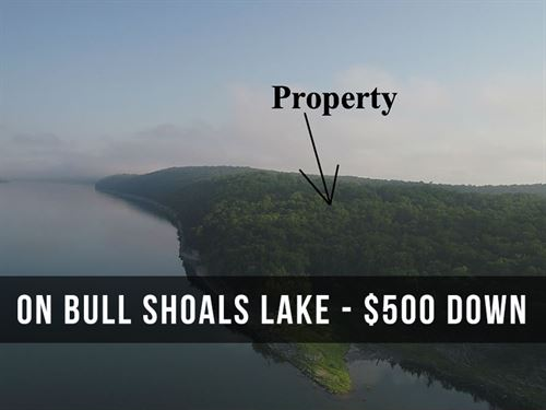 4 Acres On Bull Shoals Lake : Cedarcreek : Taney County : Missouri