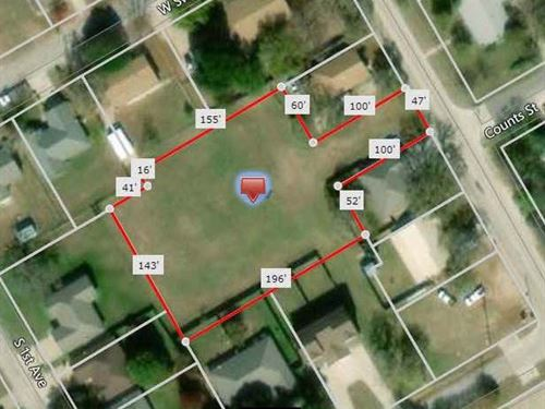 Great Home Site Or Duplex Location : Stephenville : Erath County : Texas