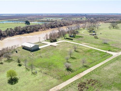 Brazos River Front Home For Sale : Bryan : Brazos County : Texas