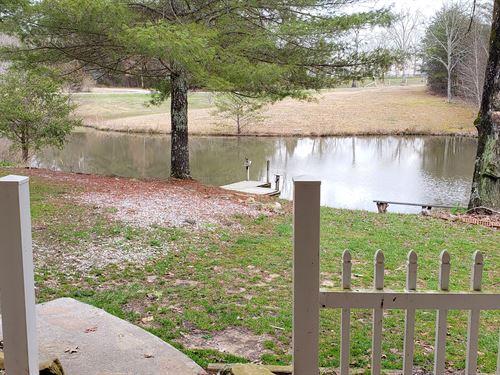 Home, Pond & Detached Garage : Crossville : Cumberland County : Tennessee