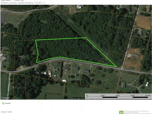 3.80 Acres, Unrestricted : Pickens : South Carolina