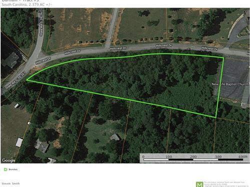 2.38 Acres, Great Locati : Pickens : South Carolina