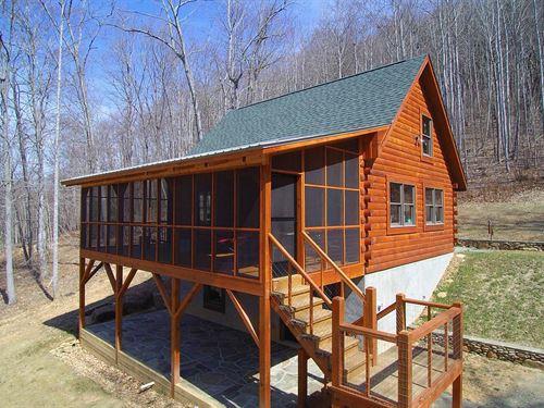 Cabin Acreage Blue Ridge Mountains : Elk Creek : Grayson County : Virginia