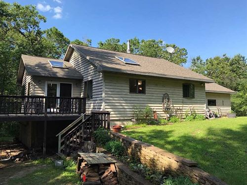 Nicely Secluded Home on 10 Acres : Wautoma : Waushara County : Wisconsin