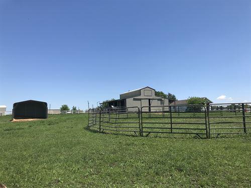 Horse Heaven, 2 Barns, 14 Acres : Van Alstyne : Grayson County : Texas