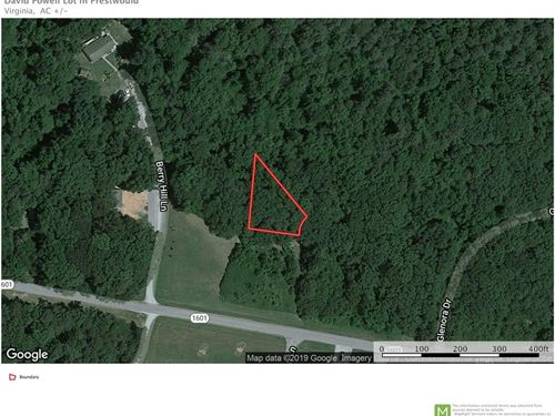 Wooded Lot Right Around Corner From : Clarksville : Mecklenburg County : Virginia