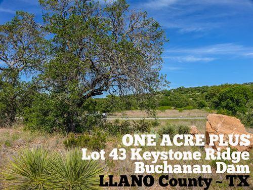 1.05 Acres In Llano County : Buchanan Dam : Llano County : Texas