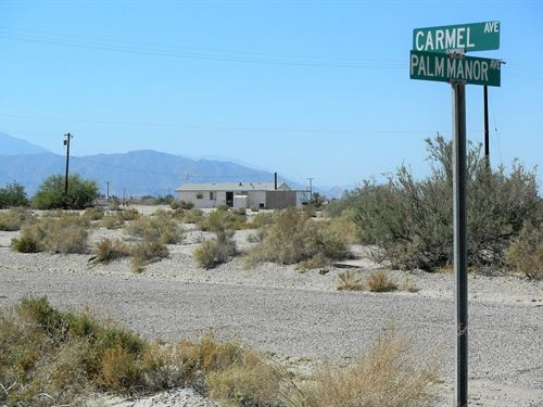 Awesome Multi-Res Corner Lot : Salton City : Imperial County : California