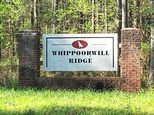 Whippoorwill Ridge, 9 Lots : Greenville : Meriwether County : Georgia
