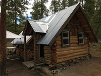 Mountain Hunting Cabin On 9 Acres : Gunnison : Gunnison County : Colorado