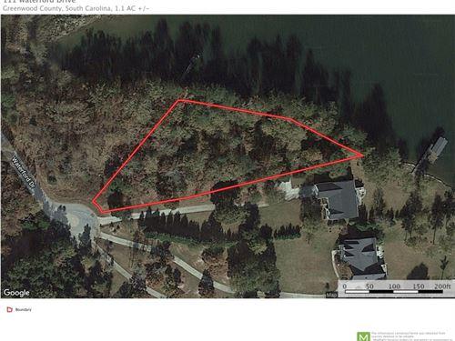 Waterfront Lot Lake Greenwood : Ninety Six : Greenwood County : South Carolina