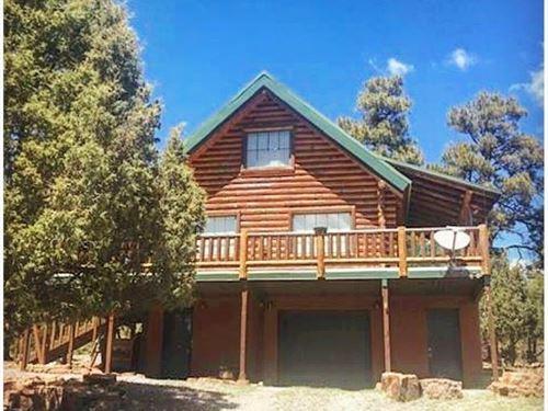 Log Home, Views Mountains & Heron : Chama : Rio Arriba County : New Mexico