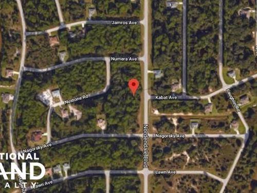 Amazing North Port Lot : North Port : Sarasota County : Florida