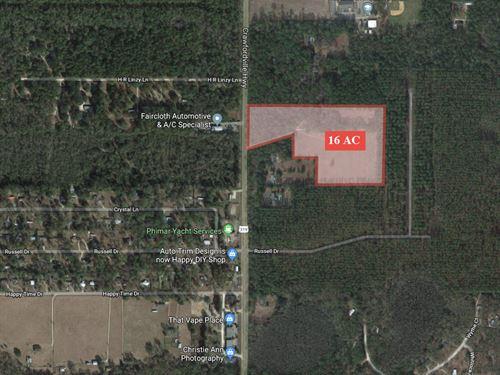 16+ Acres Development Potential : Crawfordville : Wakulla County : Florida