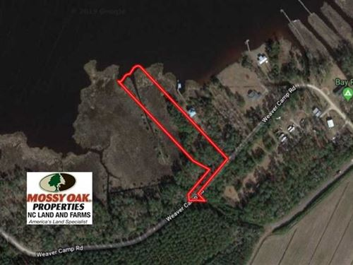 2.76 Acres of Residential Waterfro : Merritt : Pamlico County : North Carolina