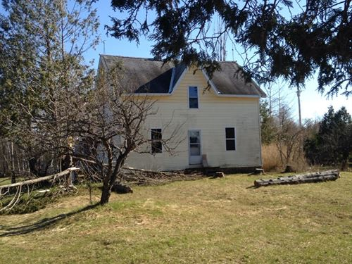 100 Year Old Farmhouse on 20 Acres : Goetzville : Chippewa County : Michigan