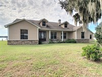 Spacious Lakefront Home On 20 Acres : Brooksville : Hernando County : Florida