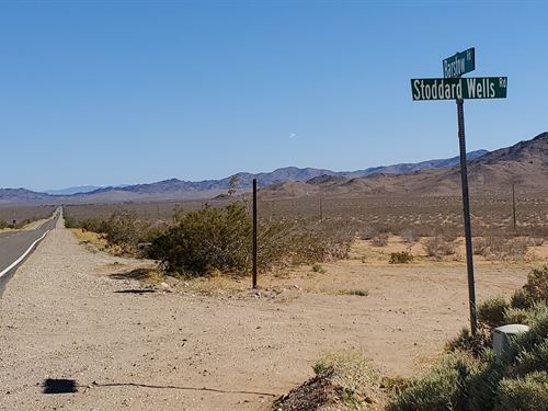 Nice Scenic Parcel Off Hwy 247 : Barstow : San Bernardino County : California