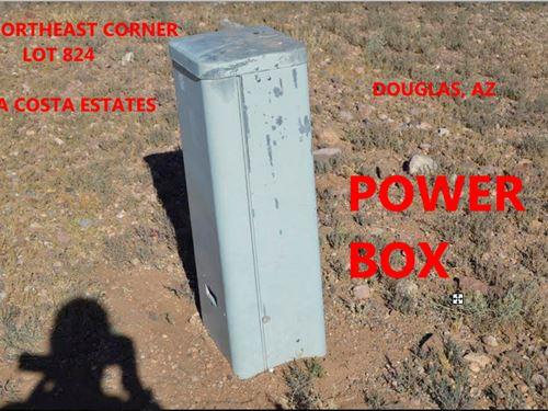New Power Box On 1/3 Acre Lot : Douglas : Cochise County : Arizona