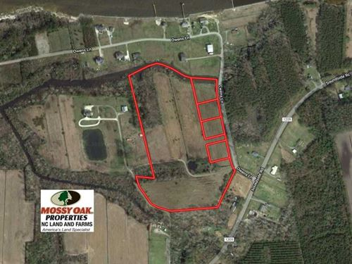 18 Acres of Waterfront Land For Sa : Columbia : Tyrrell County : North Carolina