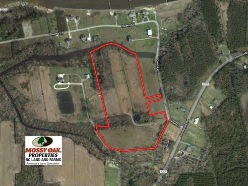 15 Acres of Waterfront Land For Sa : Columbia : Tyrrell County : North Carolina