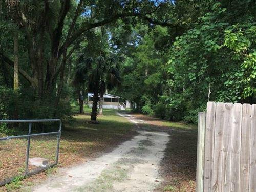 3/2 Dwmh On 3 Acres 778113 : Old Town : Dixie County : Florida