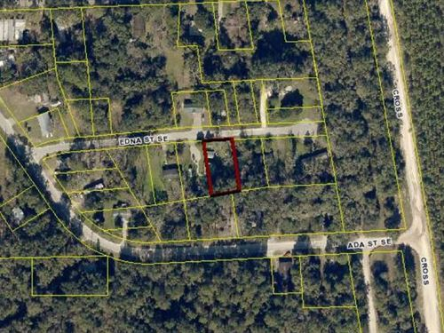 Oversized Residential Lot : Live Oak : Suwannee County : Florida