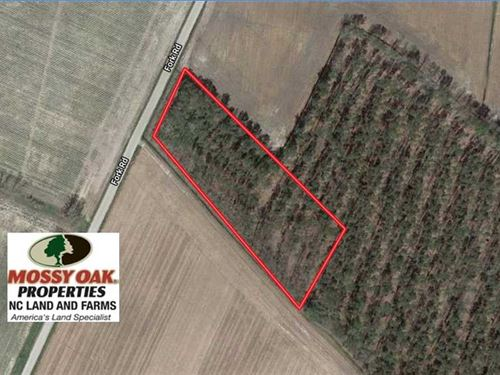 2 Acre Building Lot For Sale in Ch : Tyner : Chowan County : North Carolina