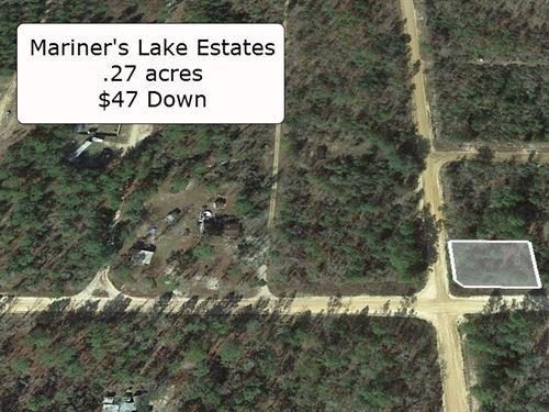 .27 Acre Corner Lot -Mariner Lake : Interlachen : Putnam County : Florida