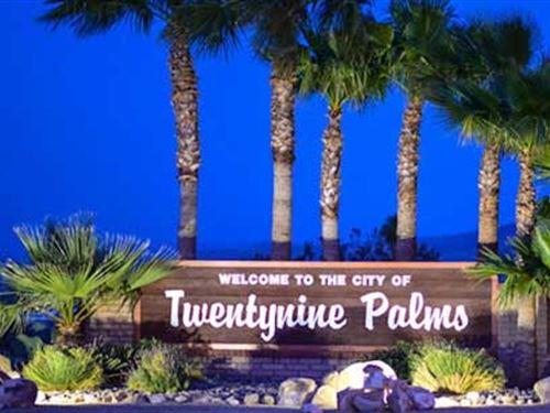 Entrance To National Park : Twenty Nine Palms : San Bernardino County : California