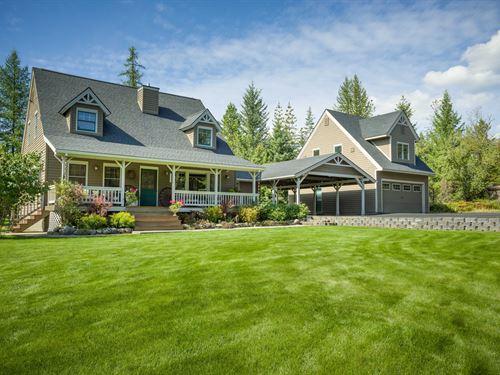 Montana Farmhouse : Kalispell : Flathead County : Montana