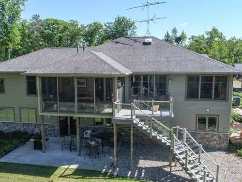 Riverfront Home, Acreage Little : Tigerton : Waupaca County : Wisconsin
