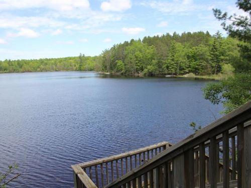 Waterfront Home Rainy Lake : Millersburg : Presque Isle County : Michigan