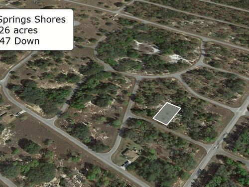 .26 Acre Lot On Paved Road : Ocklawaha : Marion County : Florida