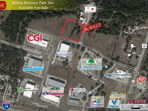 3 Acres, Belton Business Park : Belton : Bell County : Texas