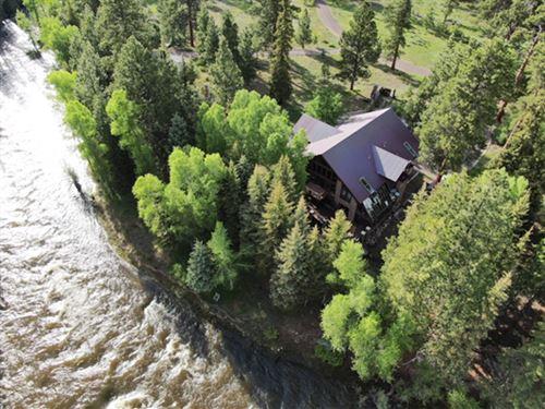 Colorado Riverfront Luxury Home : Antonito : Conejos County : Colorado