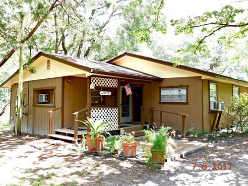 Rustic Suwannee River Cabin 3 Acres : Bell : Gilchrist County : Florida