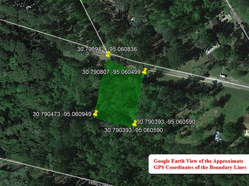 No Time Limit To Build 0.37 Acres : Livingston : Polk County : Texas