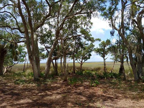 10 Acres of Land on Marsh in Camde : Waverly : Camden County : Georgia